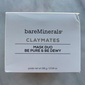 bareMinerals claymates mask duo be pure be dewy